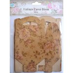 Little Birdie Crafts - Vintage Floral Collection - Gift Box - Gable - Medium
