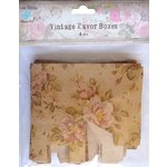 Little Birdie Crafts - Vintage Floral Collection - Gift Box - Square - Medium