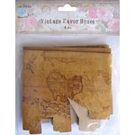 Little Birdie Crafts - Vintage Map Collection - Gift Box - Square - Medium