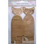 Little Birdie Crafts - Newsprint Collection - Gift Box - Butterfly - Large