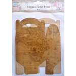 Little Birdie Crafts - Vintage Map Collection - Gift Box - Gable - Large