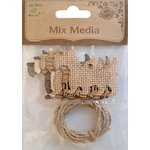 Little Birdie Crafts - Mix Media Collection - Scotty Dogs with Twine