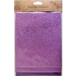 Little Birdie Crafts - Boutique Elements Collection - Glitter Sheets - Purple