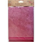 Little Birdie Crafts - Boutique Elements Collection - Glitter Sheets - Pink