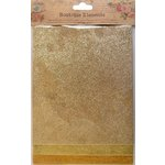 Little Birdie Crafts - Boutique Elements Collection - Glitter Sheets - Gold