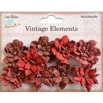 Little Birdie Crafts - Vellum Elements Collection - Serenade Blooms - Cherry Red