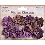 Little Birdie Crafts - Vellum Elements Collection - Serenade Blooms - Grape Crush