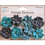Little Birdie Crafts - Vellum Elements Collection - Serenade Blooms - Ocean Spray