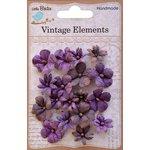 Little Birdie Crafts - Vellum Elements Collection - Vienna Petals - Grape Crush