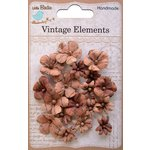 Little Birdie Crafts - Vellum Elements Collection - Vienna Petals - Terracotta