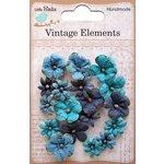Little Birdie Crafts - Vellum Elements Collection - Vienna Petals - Ocean Spray