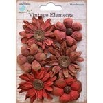 Little Birdie Crafts - Vellum Elements Collection - Phoebe Petals - Cherry Red