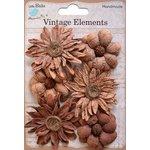 Little Birdie Crafts - Vellum Elements Collection - Phoebe Petals - Terracotta