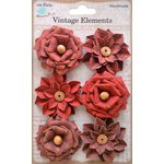 Little Birdie Crafts - Vellum Elements Collection - Milan Petals - Cherry Red