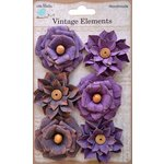 Little Birdie Crafts - Vellum Elements Collection - Milan Petals - Grape Crush