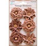Little Birdie Crafts - Vellum Elements Collection - Milan Petals - Terracotta