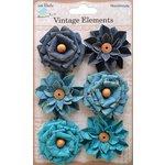 Little Birdie Crafts - Vellum Elements Collection - Milan Petals - Ocean Spray