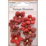Little Birdie Crafts - Vellum Elements Collection - Rhea Petals - Cherry Red