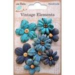 Little Birdie Crafts - Vellum Elements Collection - Rhea Petals - Ocean Spray