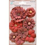 Little Birdie Crafts - Vellum Elements Collection - Symphony Flower - Cherry Red