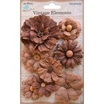 Little Birdie Crafts - Vellum Elements Collection - Symphony Flower - Terracotta