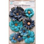 Little Birdie Crafts - Vellum Elements Collection - Symphony Flower - Ocean Spray