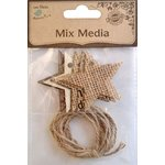 Little Birdie Crafts - Mix Media Collection - Star Tags with Twine