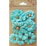 Little Birdie Crafts - Boutique Elements Collection - Symphony Flower - Blue