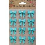 Little Birdie Crafts - Boutique Elements Collection - Pearl Bows - Blue