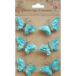 Little Birdie Crafts - Boutique Elements Collection - Beaded Butterflies - Blue