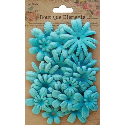 Little Birdie Crafts - Boutique Elements Collection - Spring Garden - Blue