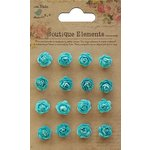 Little Birdie Crafts - Boutique Elements Collection - Micro Roses - Blue