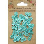 Little Birdie Crafts - Boutique Elements Collection - Beaded Petals - Micro - Blue