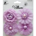 Little Birdie Crafts - Vellum Elements Collection - Camden Cottage - Lilac