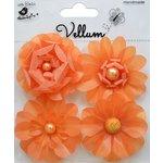 Little Birdie Crafts - Vellum Elements Collection - Camden Cottage - Sunset Orange