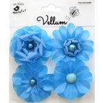 Little Birdie Crafts - Vellum Elements Collection - Camden Cottage - Cool Blue