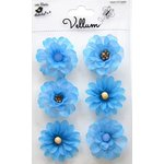 Little Birdie Crafts - Vellum Elements Collection - Boutique Flowers - Cool Blue