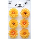 Little Birdie Crafts - Vellum Elements Collection - Boutique Flowers - Lemon