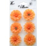 Little Birdie Crafts - Vellum Elements Collection - Boutique Flowers - Sunset Orange