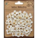 Little Birdie Crafts - Mix Media Collection - Canvas Beaded Petites - Mini - Galvanized