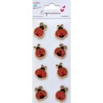 Little Birdie Crafts - Expressions Collection - Kraft Printed Lady Bugs
