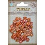 Little Birdie Crafts - Vintaj Collection - Beaded Micro Petals - Rustic Blush