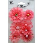 Little Birdie Crafts - Vellum Elements Collection - Symphony Flowers - Misty Rose