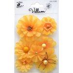 Little Birdie Crafts - Vellum Elements Collection - Symphony Flowers - Lemon