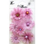 Little Birdie Crafts - Vellum Elements Collection - Symphony Flowers - Lilac