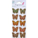 Little Birdie Crafts - Expressions Collection - Kraft Printed Butterflies