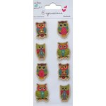 Little Birdie Crafts - Expressions Collection - Kraft Printed Owls