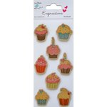 Little Birdie Crafts - Expressions Collection - Kraft Printed Cupcake