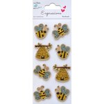 Little Birdie Crafts - Expressions Collection - Kraft Printed Bees