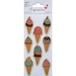 Little Birdie Crafts - Expressions Collection - Kraft Printed Ice cream